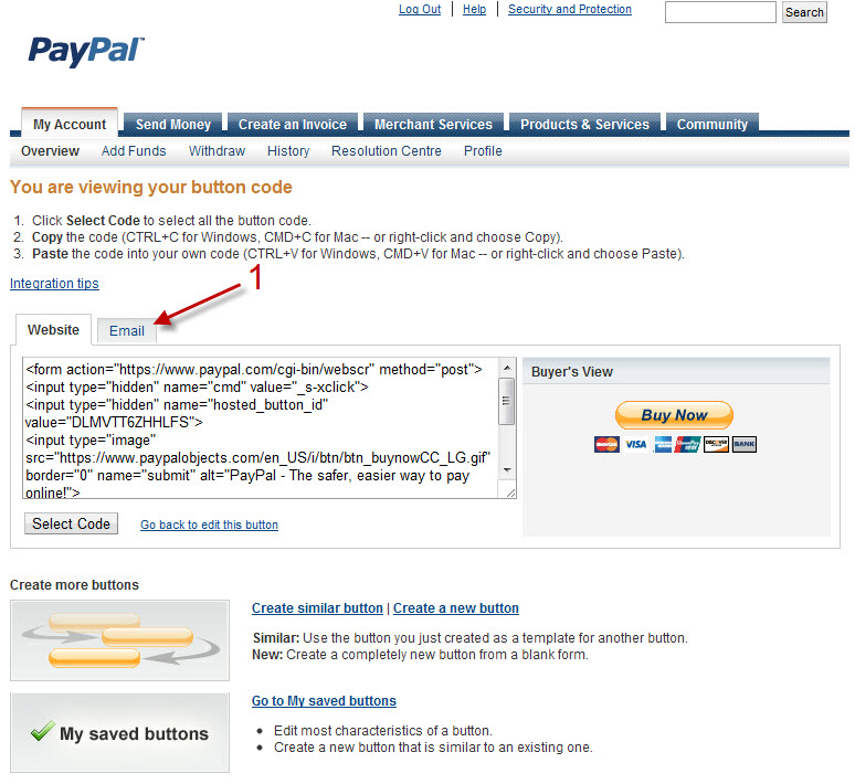 how to find paypal link