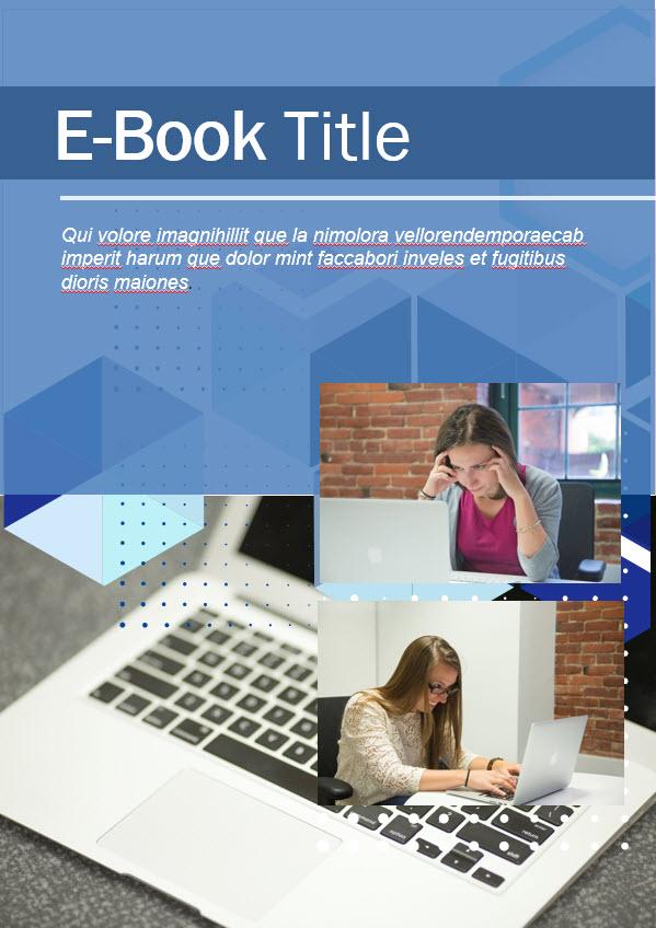 blue theme ebook template 2