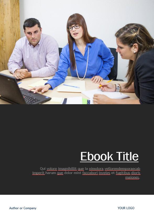 dark grey ebook free template