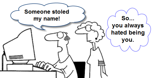 identty theft cartoon