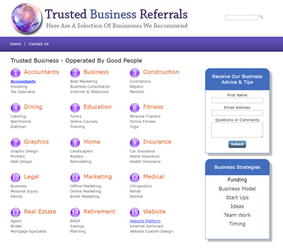 free website Trusted Business Directory