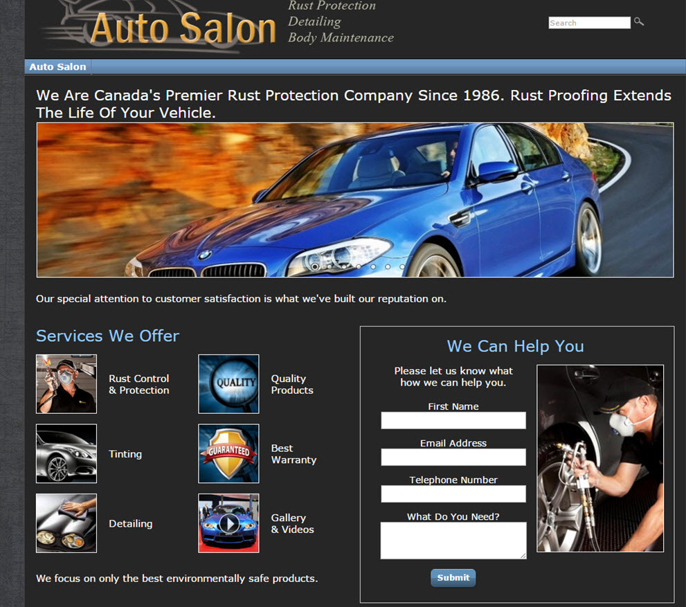 free website Automotive Website