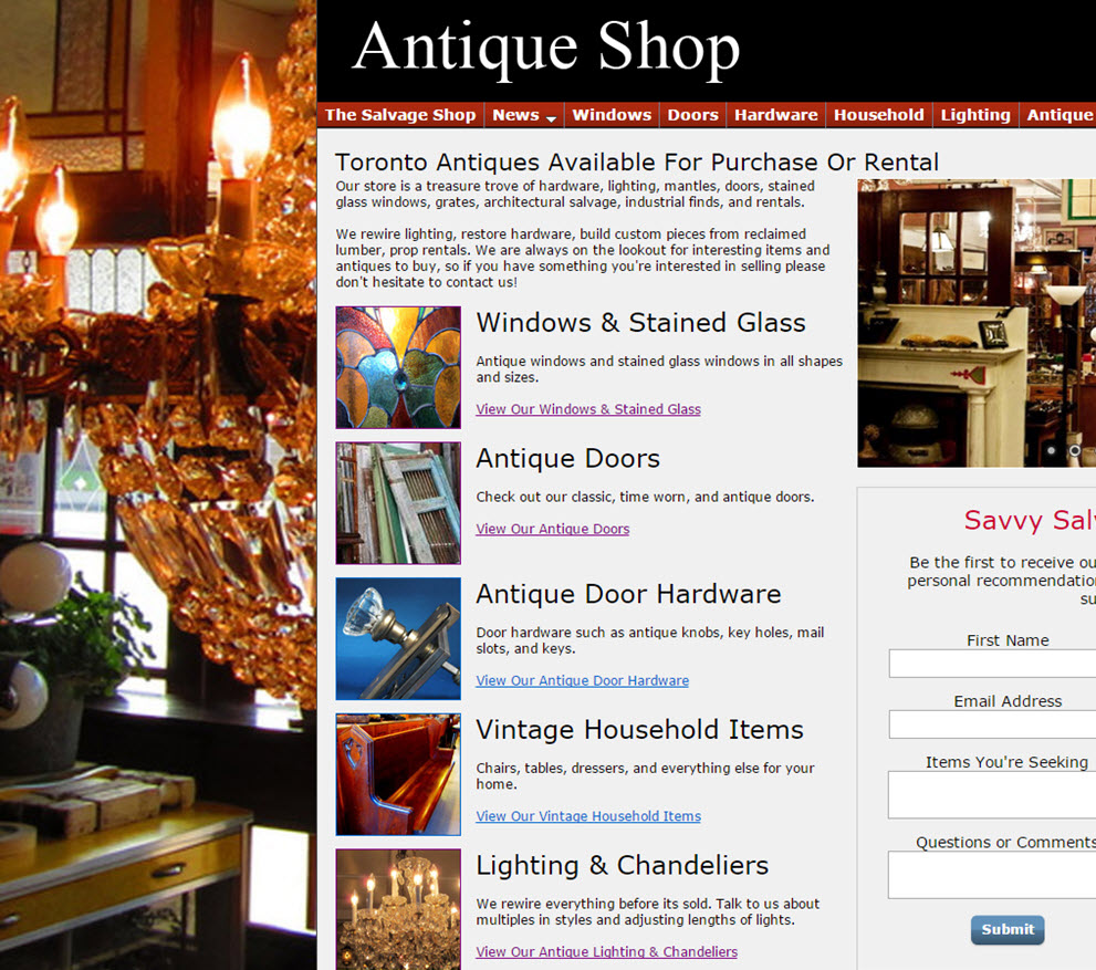 free website Antique Store