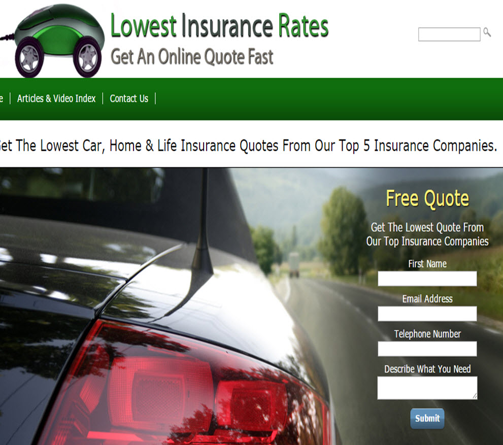 free website Car Insurance Leads