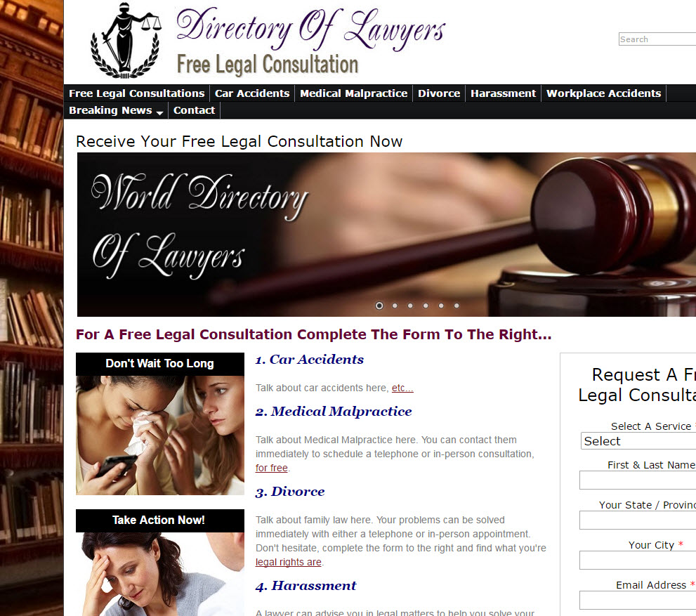 free website Send Leads To Lawyers
