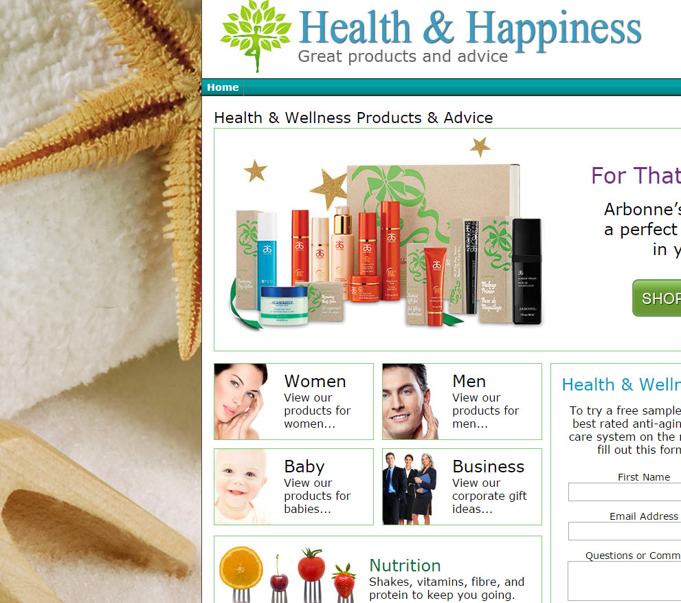 free website Cosmetic Website