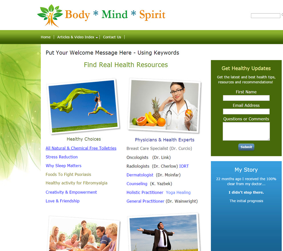 free website Health & Wellness