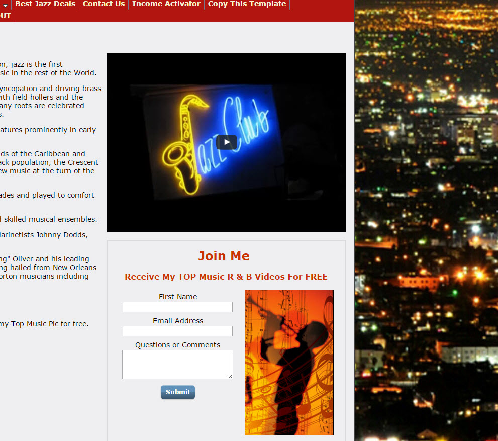 free website R & B Jazz