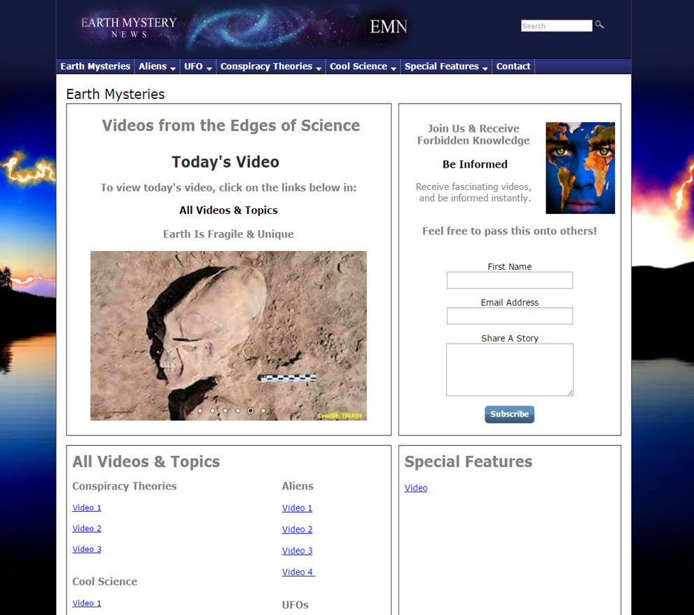 free website Earth Mysteries